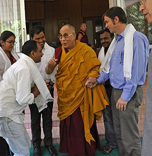 Brian T. Mullis and Dalai Lama
