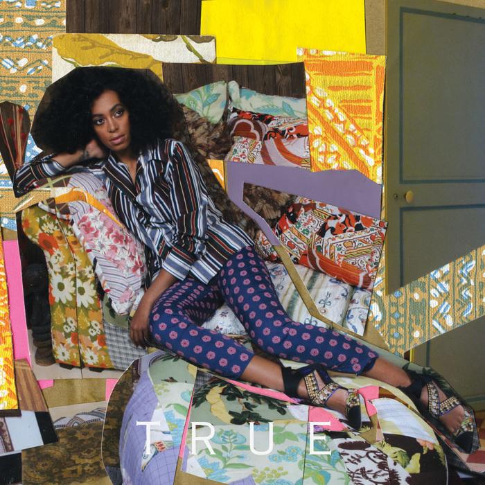 The album cover for Solange's 'True',by Mickalene Thomas. Image courtesy of Artslant.