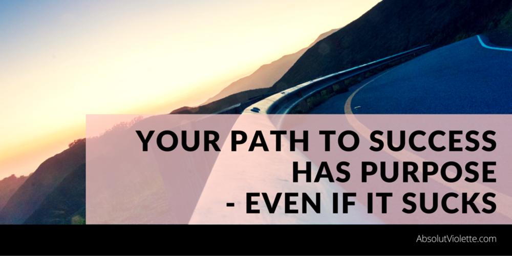 journey path to success through trials and tribulations, sucks.