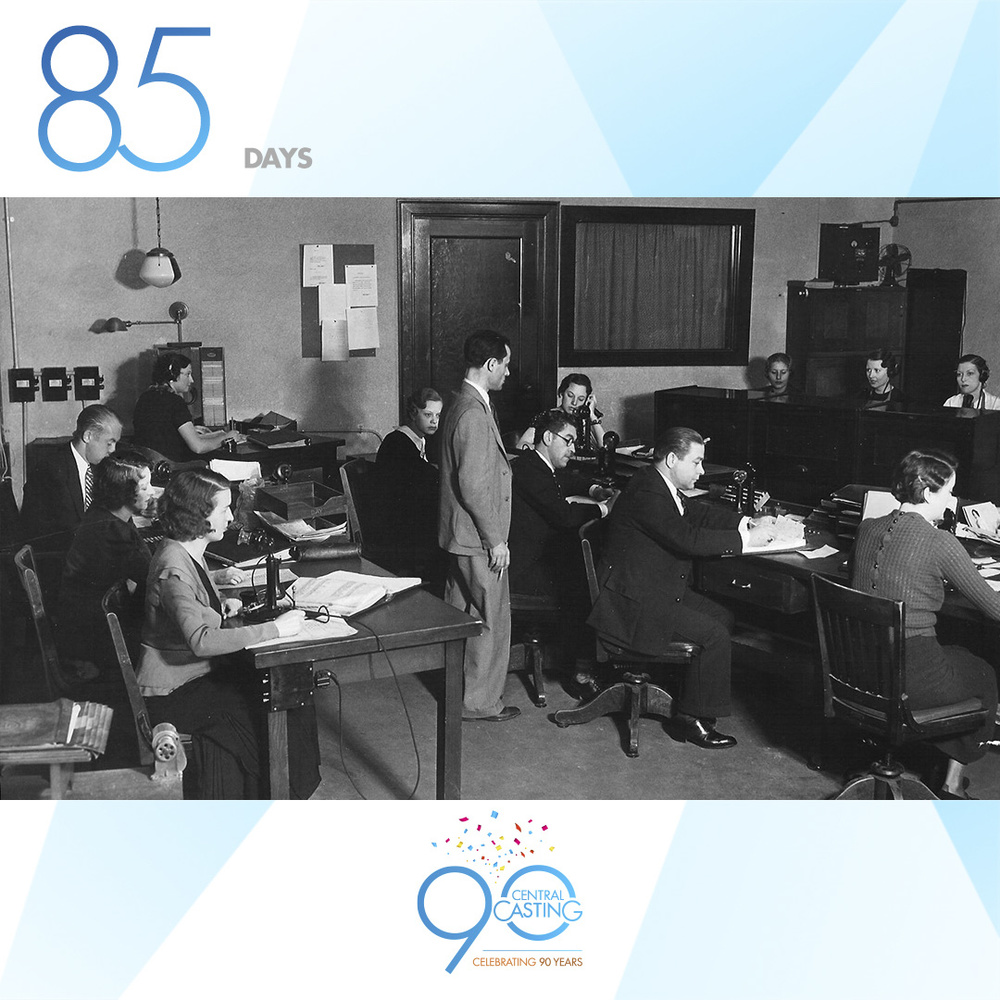 Legacy   Central's casting office in the 1930's! Busy then and busy now.  ‪#‎tbt‬  Follow and share your stories with us on Instagram.