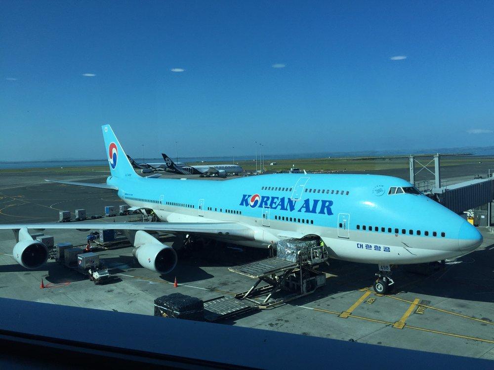 Korean Air's 747 (Photo by Lucas Navarro)