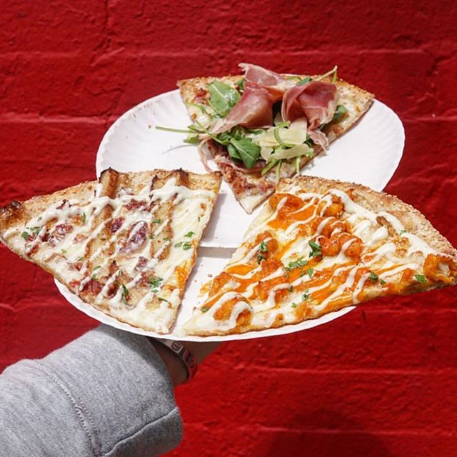 How do we celebrate Friday? Well, with three of our famous slices of course. Pictured is our #BuffaloChicken slice, #ChickenBaconRanch, & our San Gennaro with #bacon , arugula, and prosciutto --------------------------------------------------------- Be sure to ❗️LIKE❗️ us on Facebook (@ Dough Boys Pizza NYC) for exclusive offers & more! #DoughBoysPizzaNYC