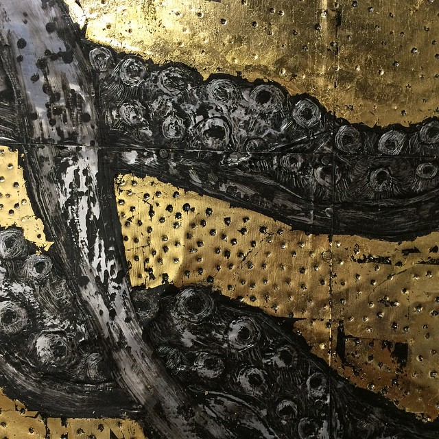 #tentacles #wip #painting #gold