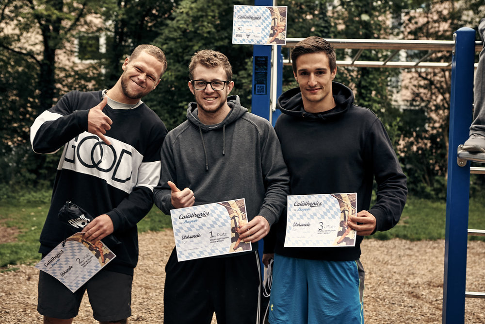 Heavy Weight Winners, Gregor, Andi and Tobi.