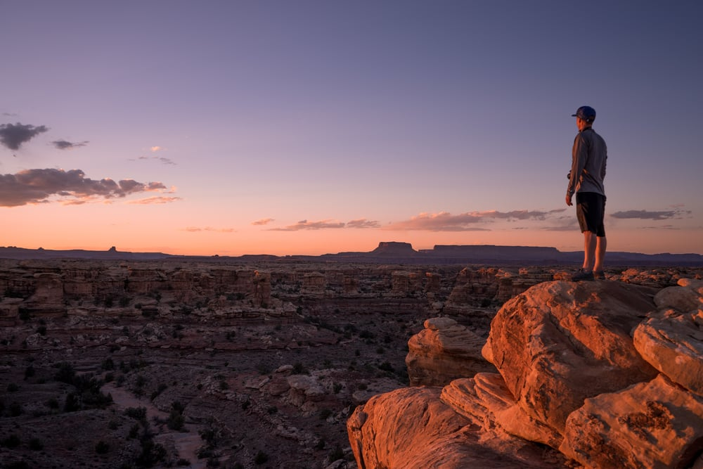 Photo of myself, out at Pot Hole Point Trail in Canyonlands By: Mario Torrez @Utahspots