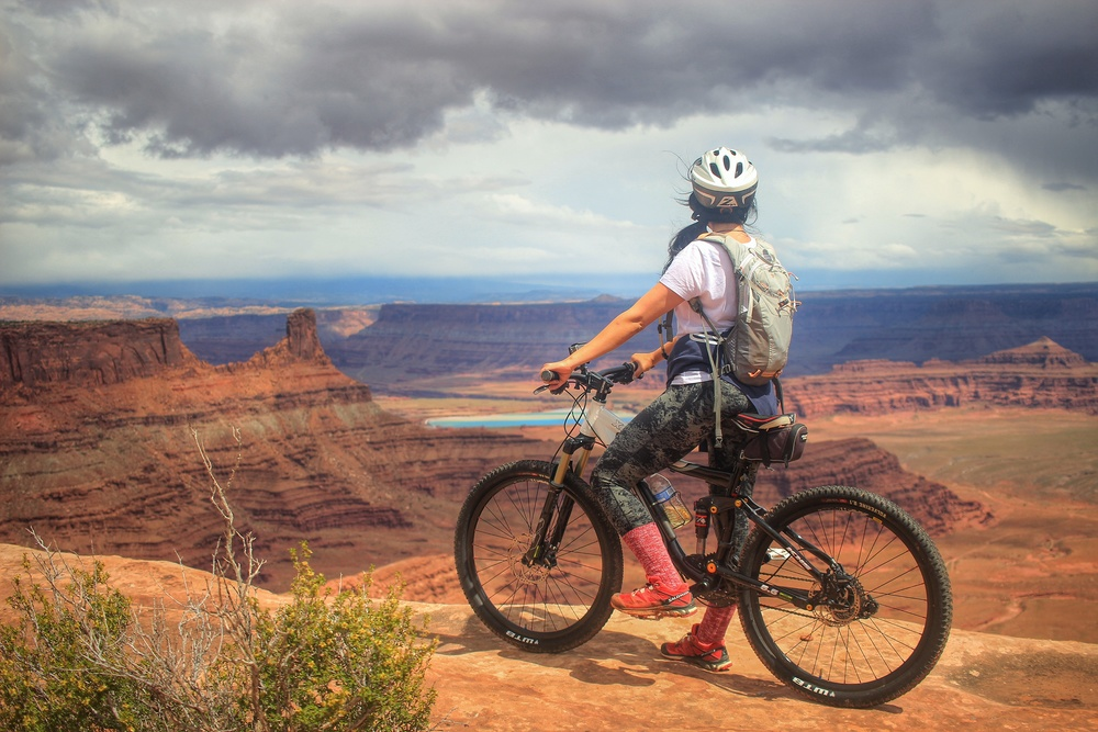 There are many ways to enjoy Dead Horse Point State Park, one of them is several of the Mt. biking trails around the rim or down into the beautifully carved canyons. Located on the border of Canyonlands Island in the Sky District, this is a must see while your touring the area.