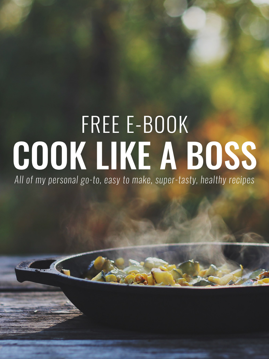 FREE recipe resource COOK LIKE A BOSS - All of coach Peter Roberts' personal go-to, easy to make, super-tasty, healthy recipes.