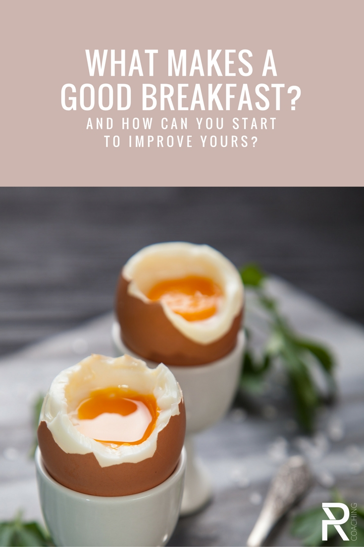 What makes a good breakfast? Learn how to build a nutritious, balanced plate in the morning + recipe ideas for busy people on the go.