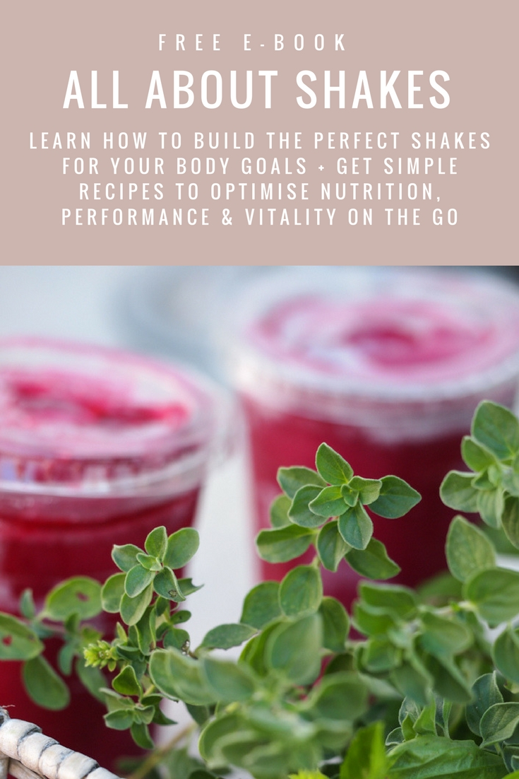 A simple, FREE recipe resource to optimise health, performance, and vitality on the go by PR Coaching | Healthy shakes recipes | Shakes for weightloss | protein shake recipes | meal replacement shakes | shakes and smoothies | smoothies for weightloss | breakfast smoothies