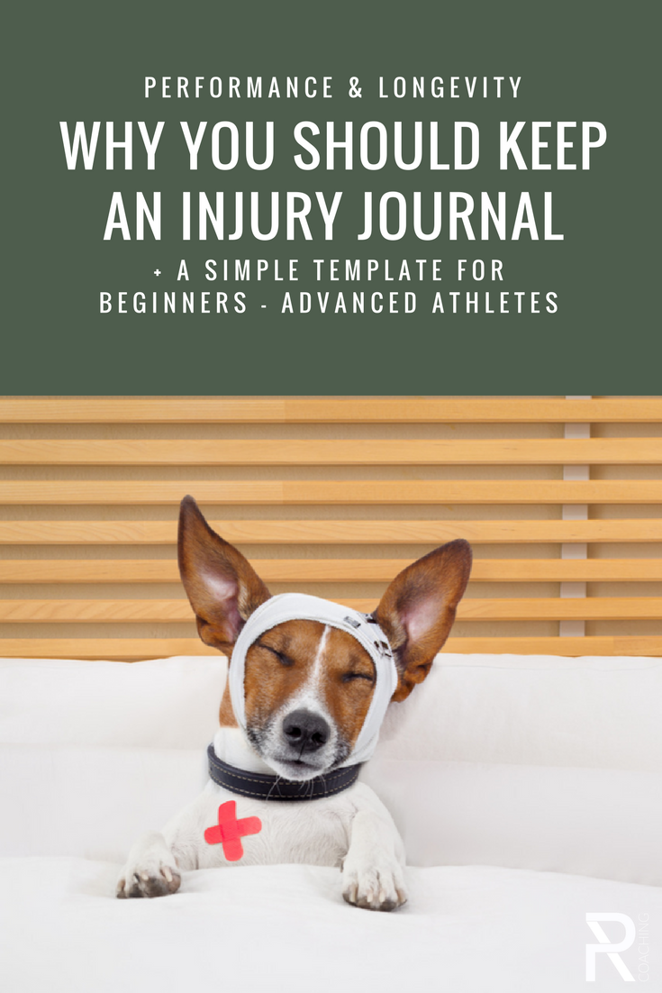 Why you should keep an injury journal   Training tips for beginner   training tips for advanced athletes   injury prevention   sport longevity
