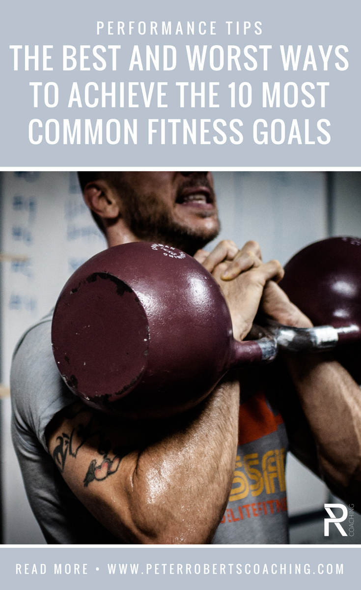 The Best And Worst Ways To Achieve The 10 Most Common Fitness Goals | Workout goals chart ideas | fitness goals list | weight loss | strength training | flexibility | PR Coaching