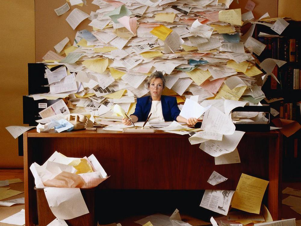 swamped paperwork