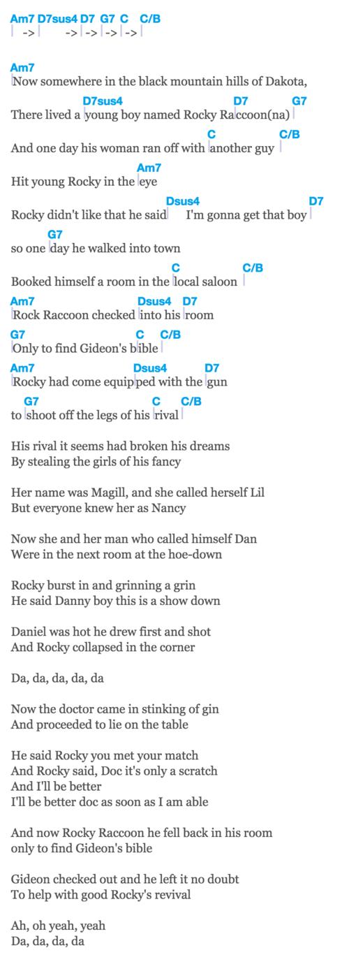 2. Rocky Raccoon - The Beatles — Jack & Marci