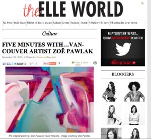 Elle Canada, PR, vancouver, agency, Burrit Bros., rugs, media relations