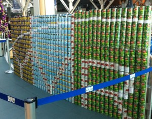 Vancouver Airport Authority's Engineering team created a can-sculpture out of 800 tin cans.