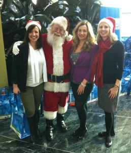 Elettra Communications with Santa. Happy to be part of the big day at YVR!