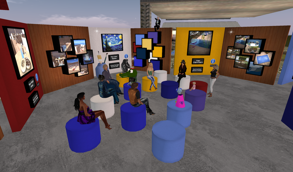 Hanging out at the meet & greet during SL13B!