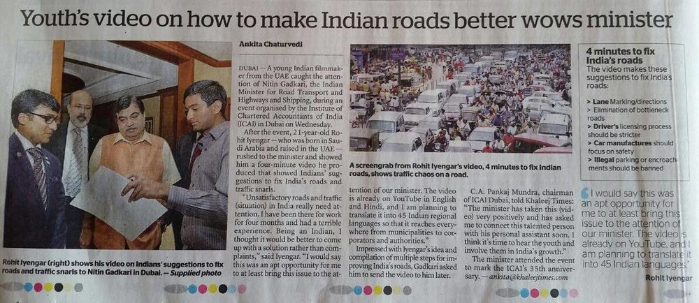 Khaleej Times UAE Nitinji Gadkari Article.jpg