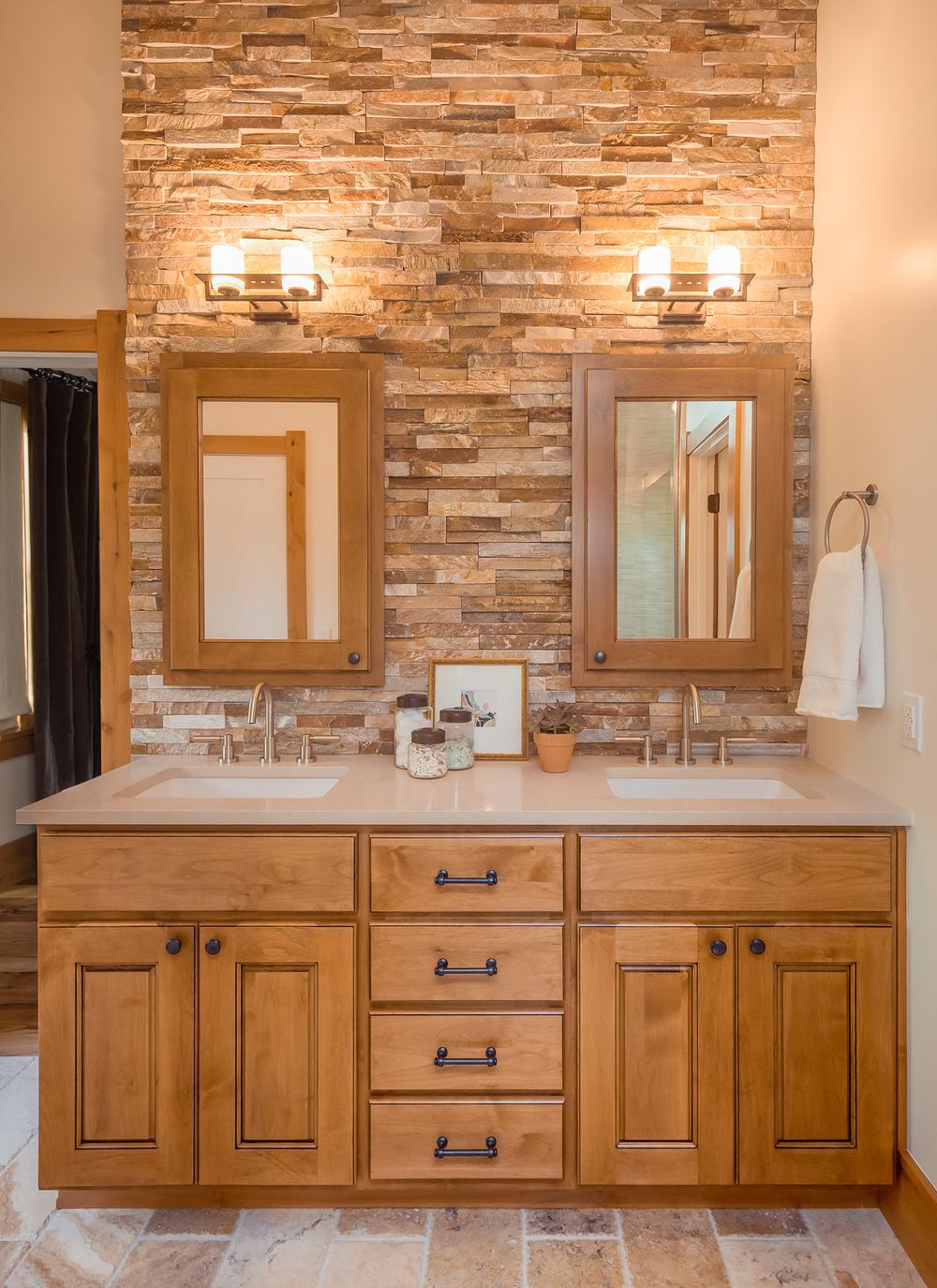 Rock Wall Bathroom