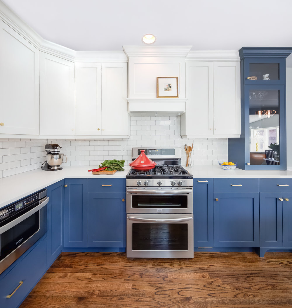 A two toned kitchen I designed this past year (Photo by Sara Yoder)