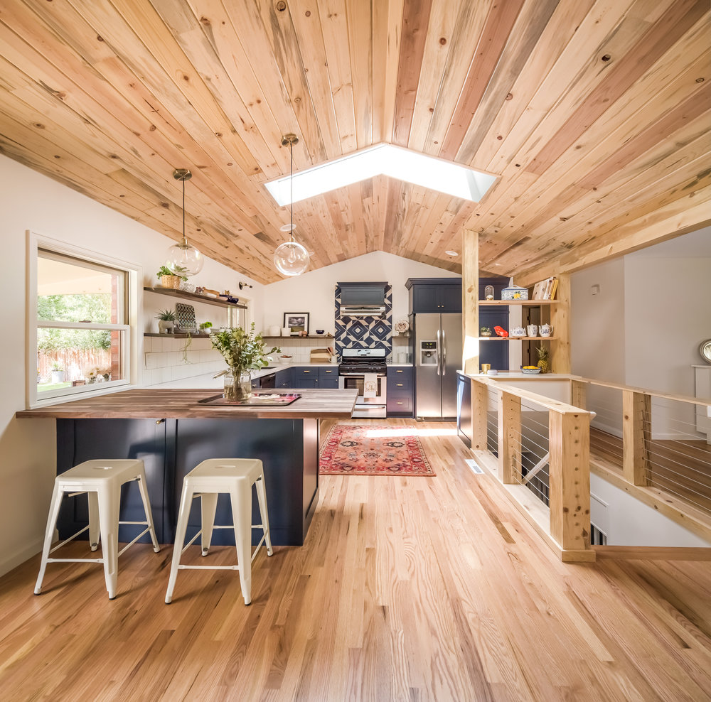 Before And After This Renovated Ranch Kitchen Beautifully Blends Rustic With Modern: Laura Medicus Interiors