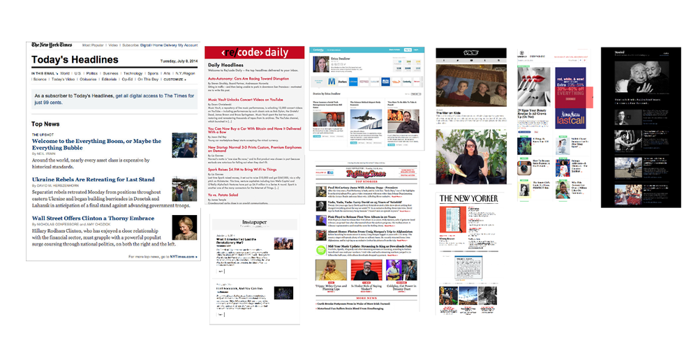 Most of our competitors used very content-heavy newsletters with less emphasis on photos. However, the competitors who elevated photos had very clean, dynamic layouts that included various mediums: content, video, galleries, etc.