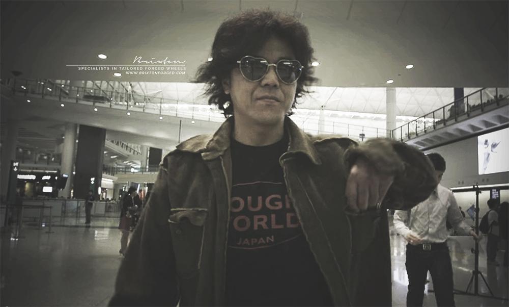 Akira Nakai arriving in Hong Kong.