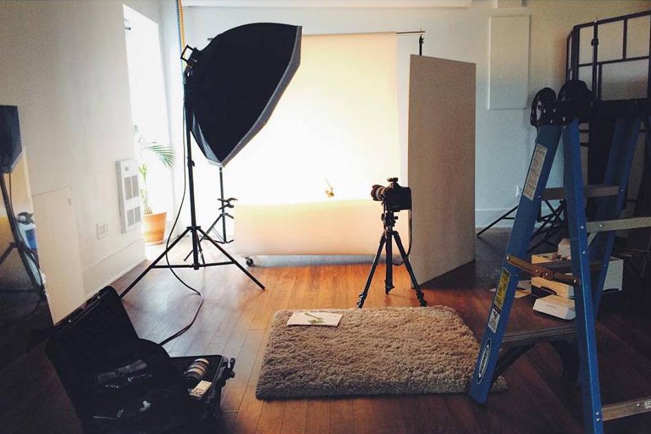 Set up at Pawelec Studio north of Toronto.