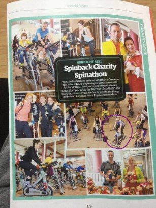 Time Out Shanghai feature for Shanghai charities at the Charity Spinathon sponsored by Spinback Fitness