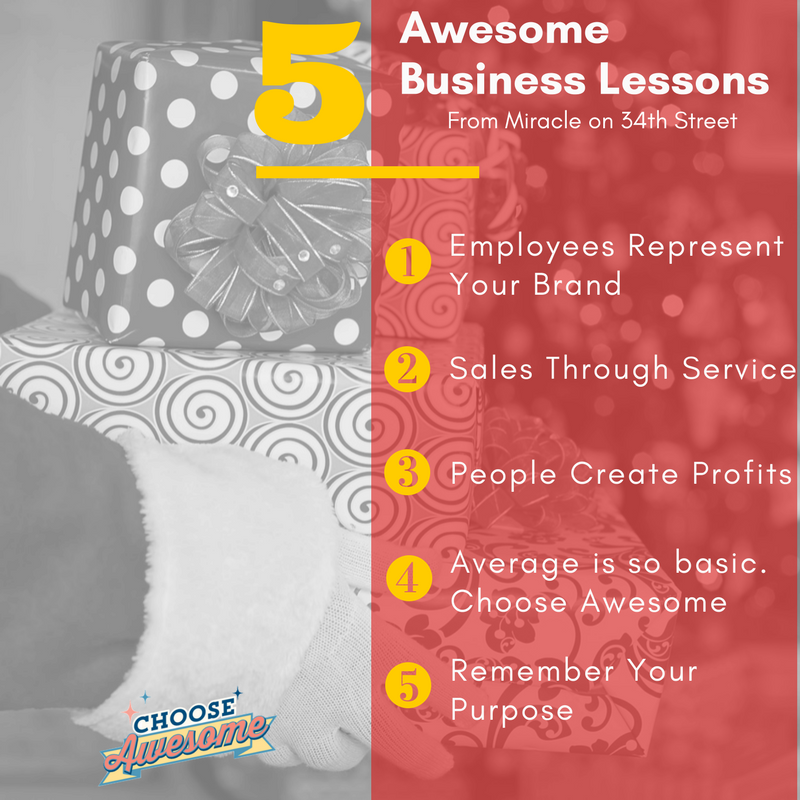 5 Awesome Business lessons for Miracle on 34th Street