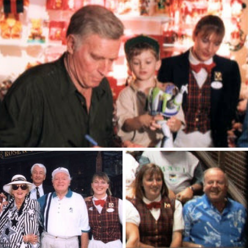Honored to have worked with some legends. Charlton Heston, Bob & Dolores Hope, and Dick Van Patten shown here.