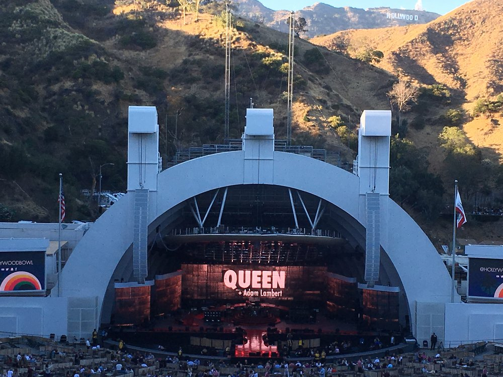 Seeing Queen at the Hollywood Bowl.