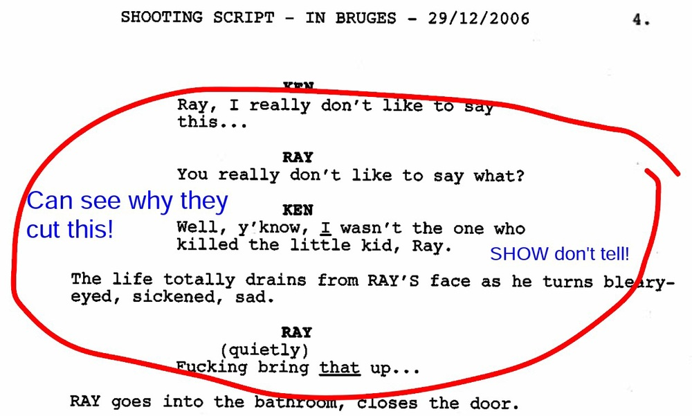 In Bruges screenplay by Martin McDonagh