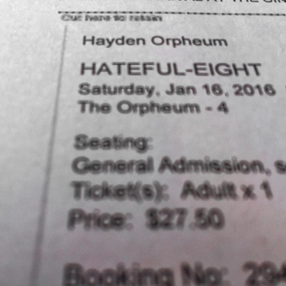 My H8Ful ticket!