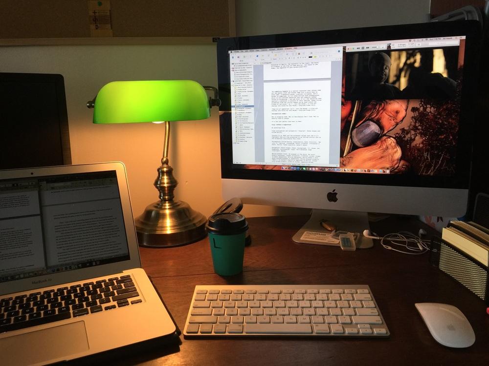 Obnoxious writing set-up