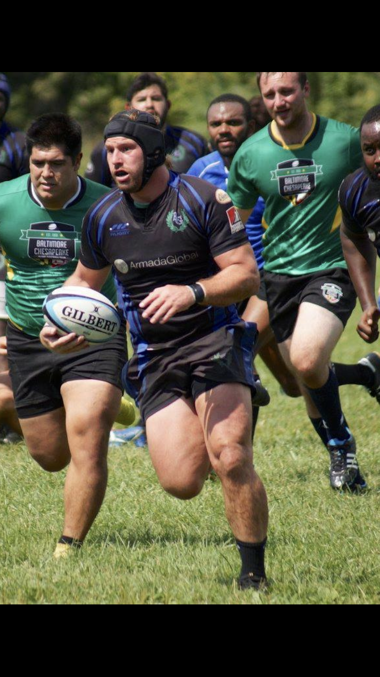 Dustin loves playing rugby when he's not working!