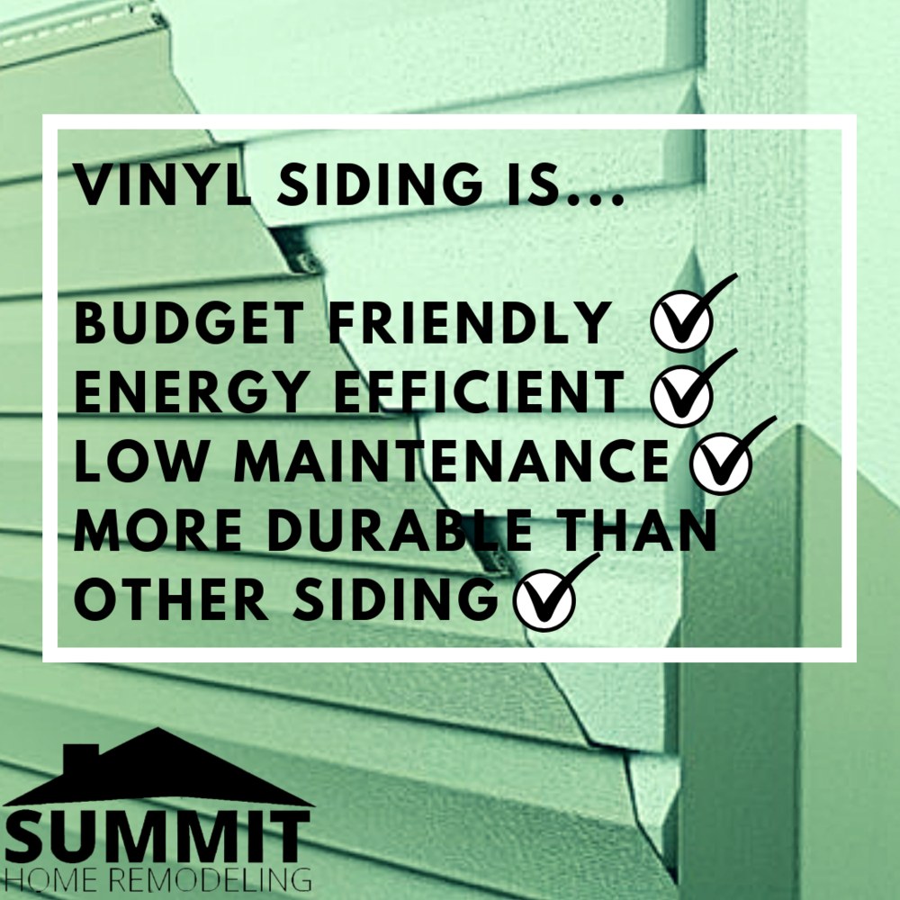 Budget friendly, energy-efficient, low maintenance, and high durability are potent benefits of vinyl siding!
