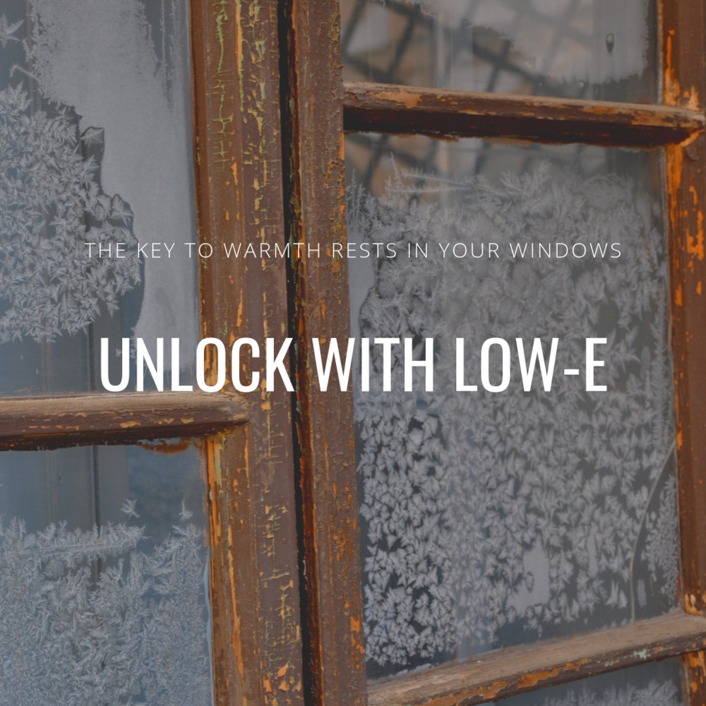 low e insulated window