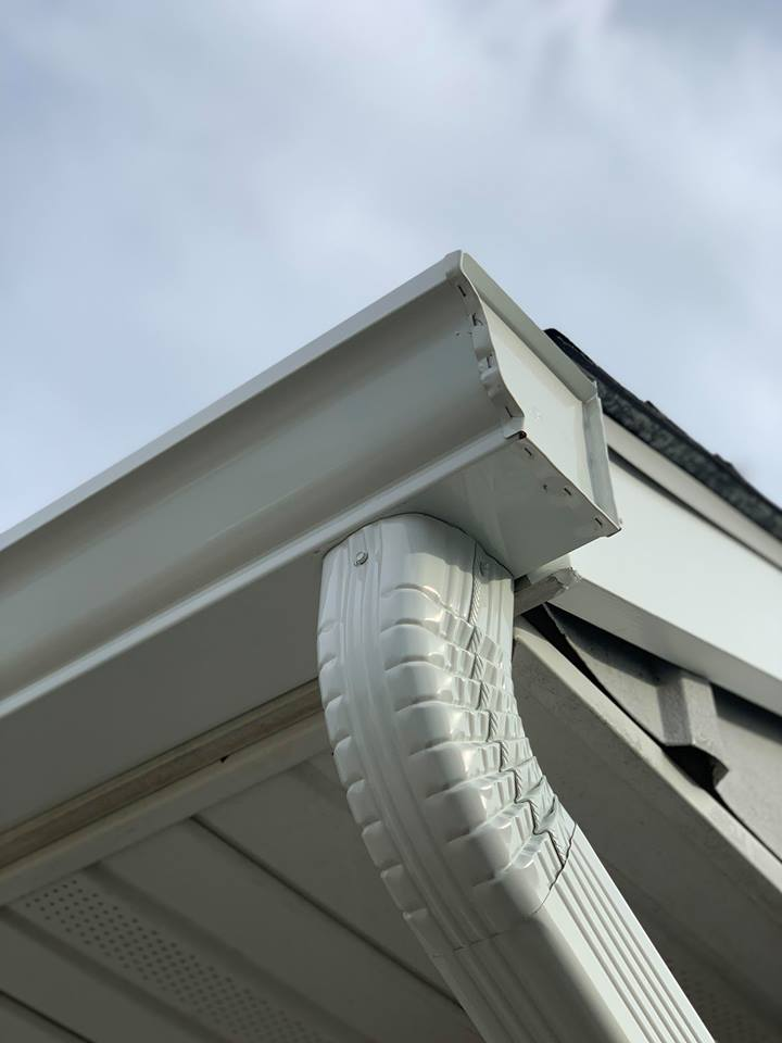 Gutters installed for an extra layer of defense against downpours!