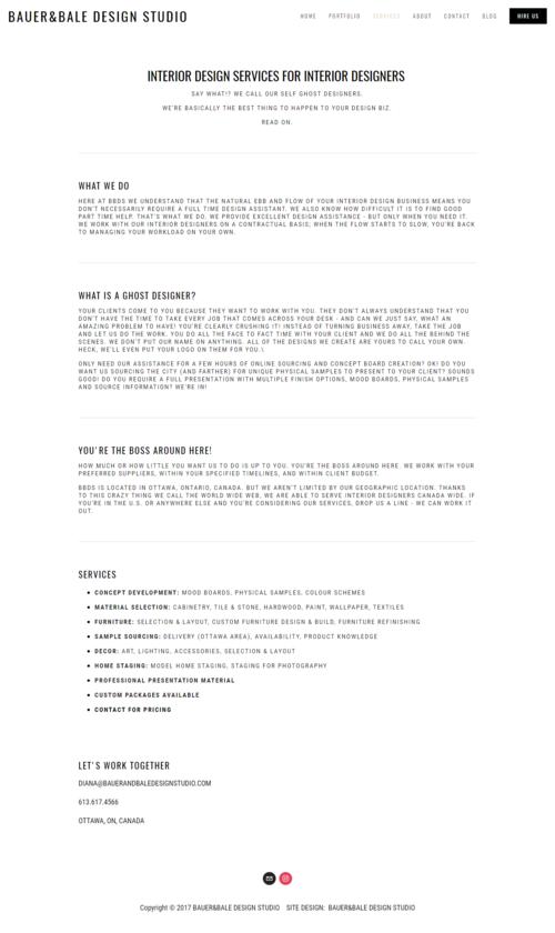 BAUERBALE DESIGN STUDIO INTERIOR