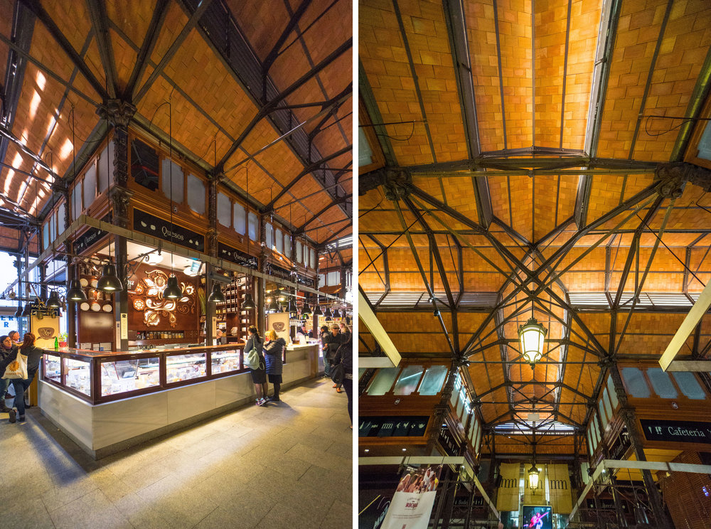 Mercado de San Miguel - such a great example of restoring a historic space!