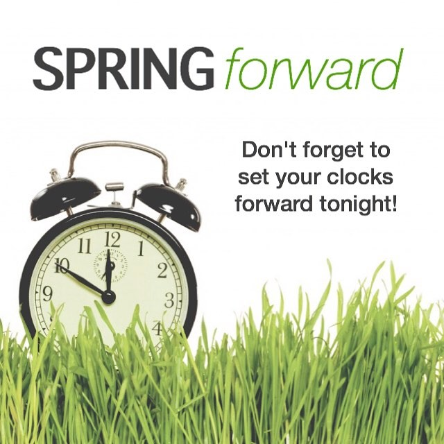 Daylight savings is tonight! Don't forget to set those clocks forward by an hour. Doors open for our morning worship service at 10:30am. See you then!