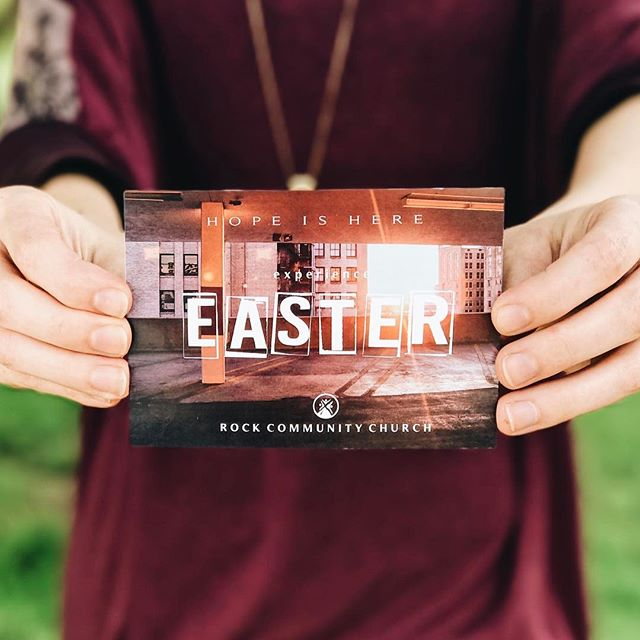 Just one week until the big day! Come spend Easter with your family at Rock Community Church! • April 16th | 10:30am | Easter egg hunt for kids during service!