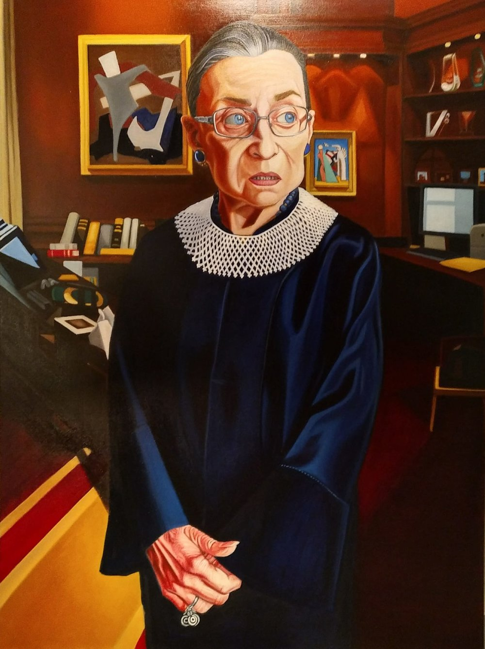 "Portrait of Ruth Bader Ginsburg (""Notorious RBG"")"