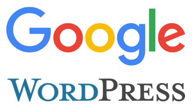 Google/WordPress Logos