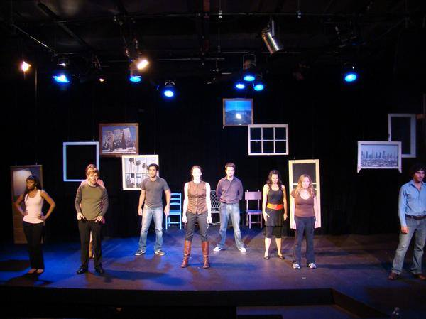 Kim Chillous, Robert Spuhler, Ben Scharlin, Mercedes Manning, Ryan Paul James, Lauren LaRocca, Claudine Claudio. Scenic and lighting design by Karyn Lawrence.