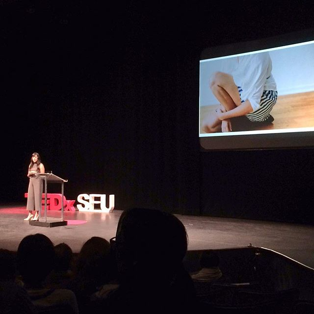 What an honour and privilege to share the #bodythoughts story yesterday with an incredible audience. #tedxtalks #tedxsfu #tedxsfu2016 #taketheleap