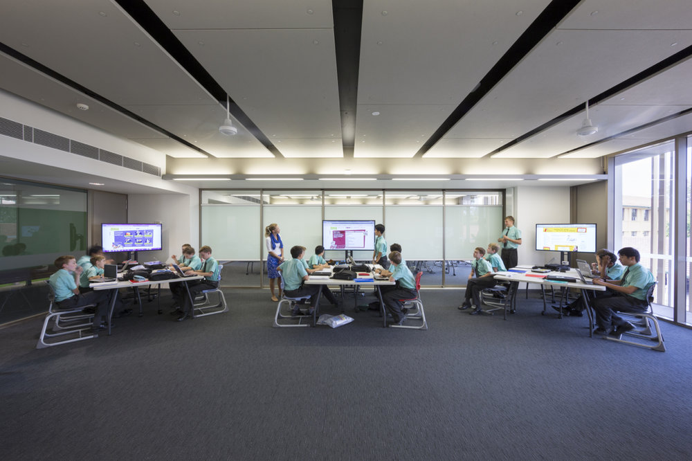 Highly flexible teaching spaces; Brisbane Boys College Middle School