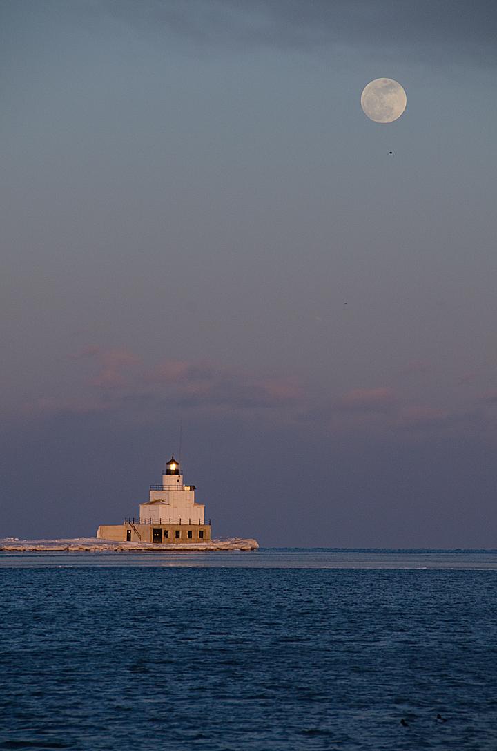 Moonrise Over Lake Michigan