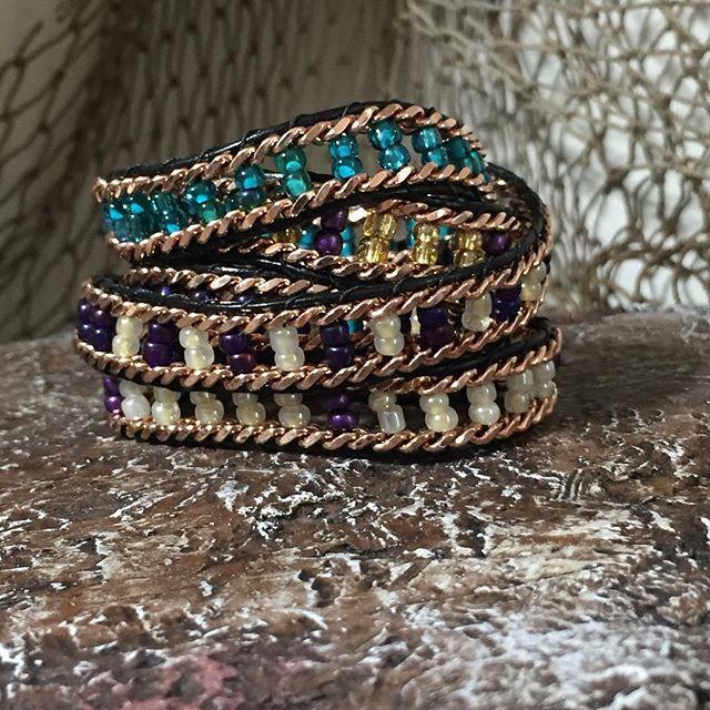 🌴Rose Gold 'Fari' #wrapbracelet 🌴 #beachfashion #sandfashion #beachjewelry #armcandy #beachbumcandy #rosegold